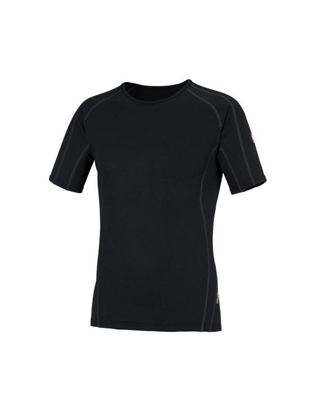 Unterwäsche | Thermokleidung: e.s. Funktions-T-Shirt clima-pro - warm, Herren + schwarz