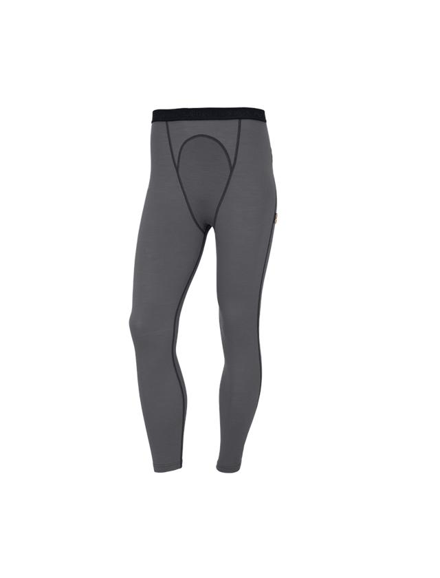 Underwear | Functional Underwear: e.s. Long-pants Merino, men's + cement/graphite