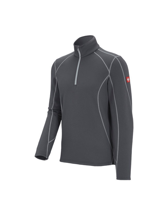 Shirts, Pullover & more: Functional-Troyer thermo stretch e.s.motion 2020 + anthracite/platinum