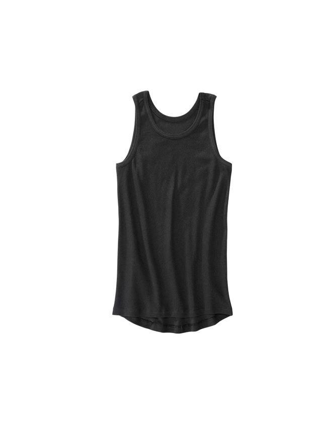 Underwear | Functional Underwear: e.s. Cotton rib tank shirt + black
