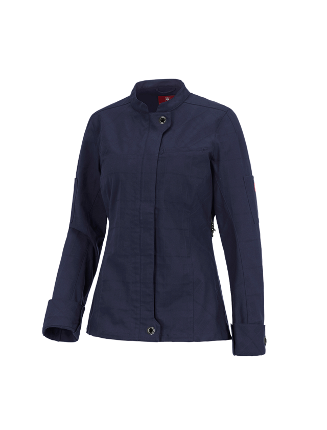 Work Jackets: Work jacket long sleeved e.s.fusion, ladies' + navy