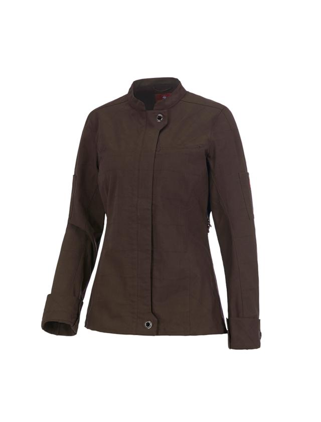 Work Jackets: Work jacket long sleeved e.s.fusion, ladies' + chestnut