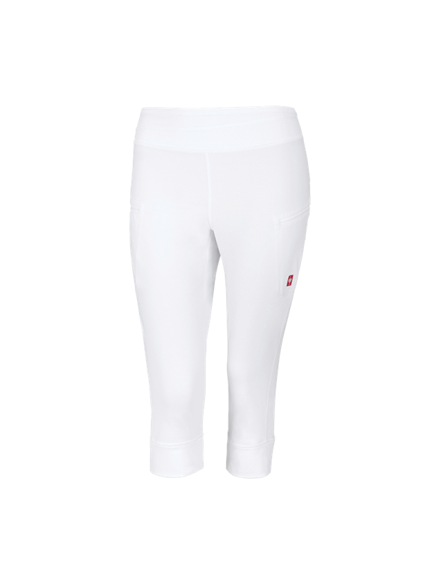 Work Trousers: e.s. 3/4 Workwear jazz pants + white