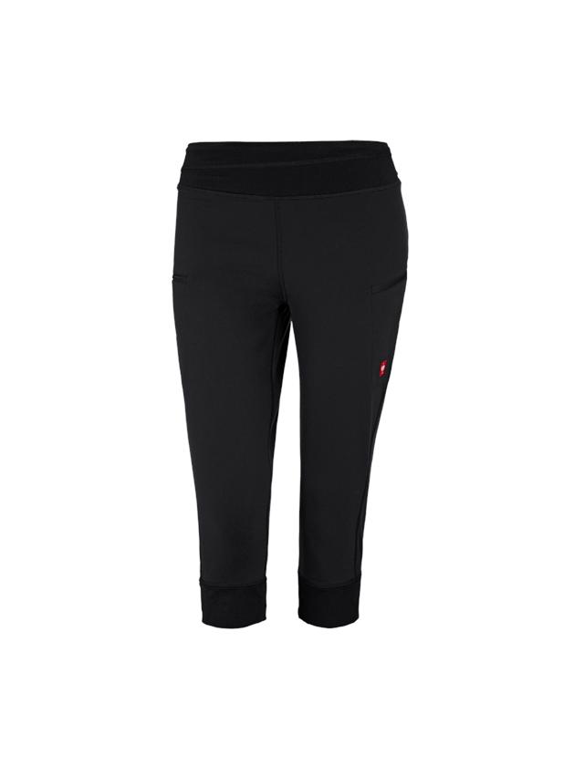 Pantalons de travail: e.s. 3/4 Pantalon jazz professionnel + noir