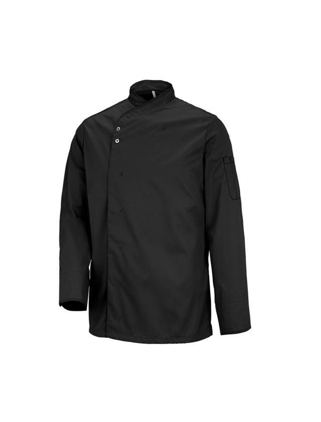 Shirts & Co.: Kochjacke Lyon + schwarz