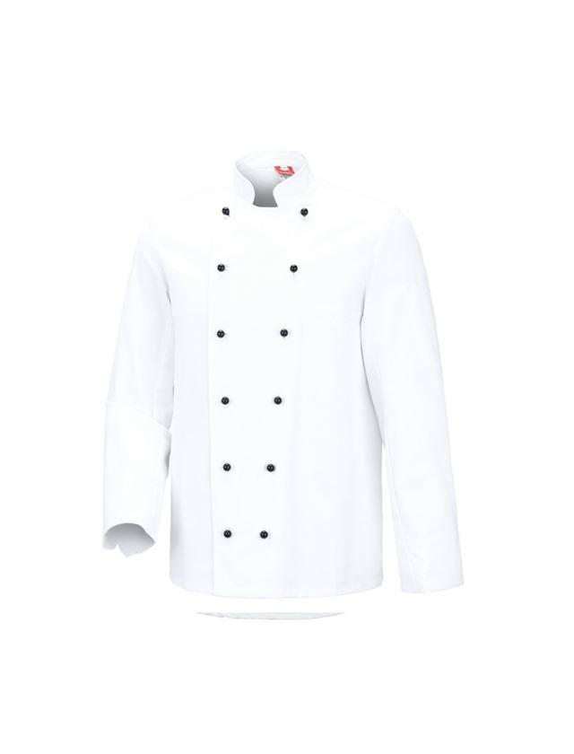 Hauts: Veste de cuisinier De Luxe + blanc