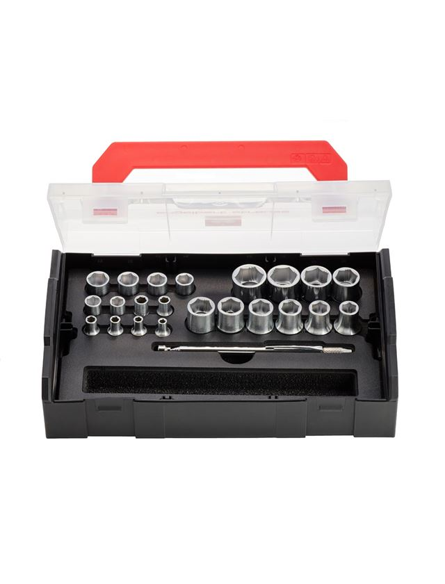 Tool Cases: e.s. Socket wrench set powergrip 1/4+1/2 in Boxx
