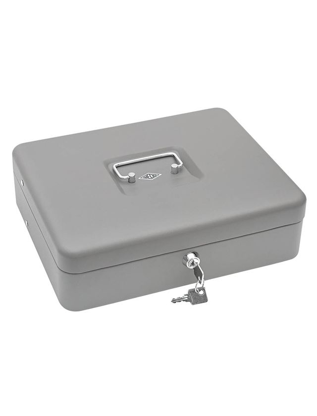 Stockage: Caisse à monnaie avec étriers à billets + gris