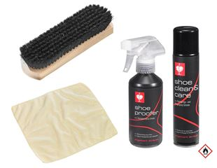 e.s. Shoe care set, fabric/leather mix