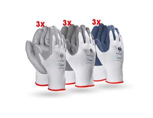 Test set: gloves recycled, 9 pairs