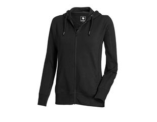 e.s. Hoody-Sweatjacke poly cotton, Damen