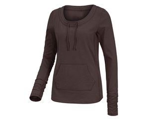 Long sleeve cotton slub, ladies'