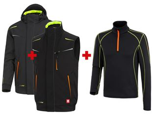 SET:Winter softshell jacket+Bodyw. e.s.motion2020