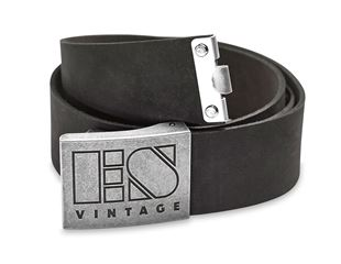 Leather buckle belt e.s.vintage