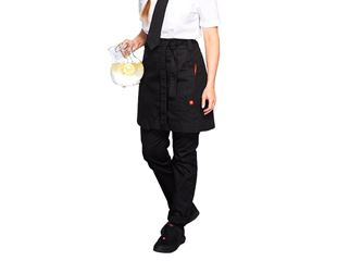 Mid-Length Apron denim raw e.s.fusion, ladies'