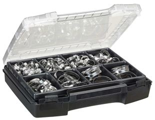 Hose clamps, 150 pieces