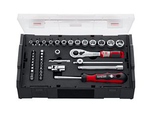 e.s. Socket wrench set pro 1/4 in e.s. Boxx mini