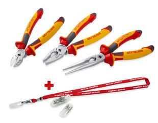 e.s. safety pliers set VDE+lanyard+Voltage tester