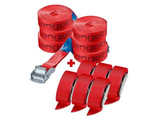 e.s. Lashing strap set with a clamp