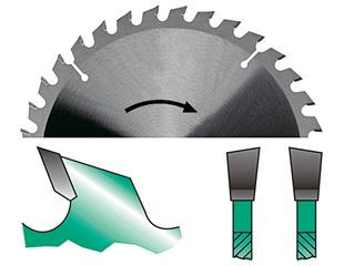 HW circular saw blades tooth form W