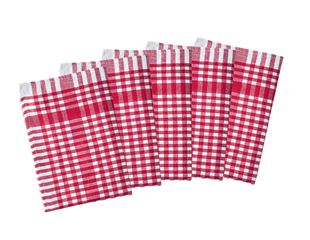 Checked dishcloths