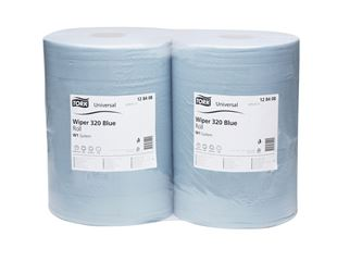 Tork cleaning paper on rolls, pack of 2