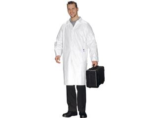 disposable aprons and lab coats