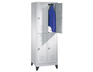 Double-deck wardrobe with feet