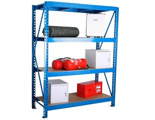 Heavy duty long-span racking system basic frame