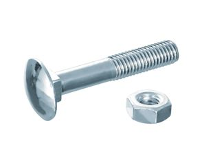 Round-head screw DIN 603 with nut
