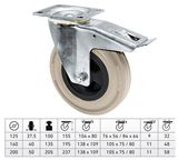 Guide Roll with Wheel-/Total Fixing Brake