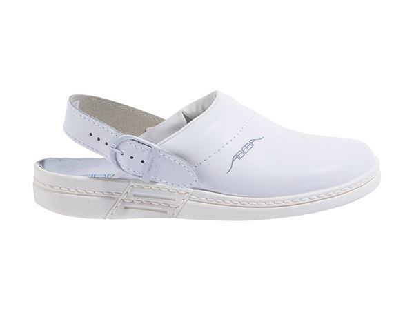 OB: ABEBA OB Ladies' and men's clogs Tonga + white