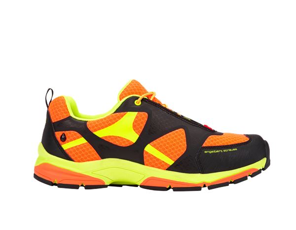 O2: e.s. O2 Work shoes Thebe + high-vis orange/high-vis yellow/black