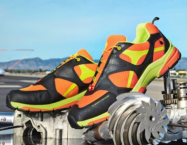 O2: e.s. O2 Work shoes Thebe + high-vis orange/high-vis yellow/black 1