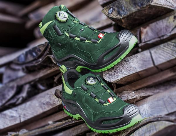 O2: e.s. O2 Work shoes Apate low + green/seagreen 1