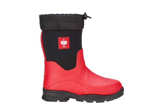 Kids Shoes: e.s. Allround boots Fides high, children's + fiery red/black