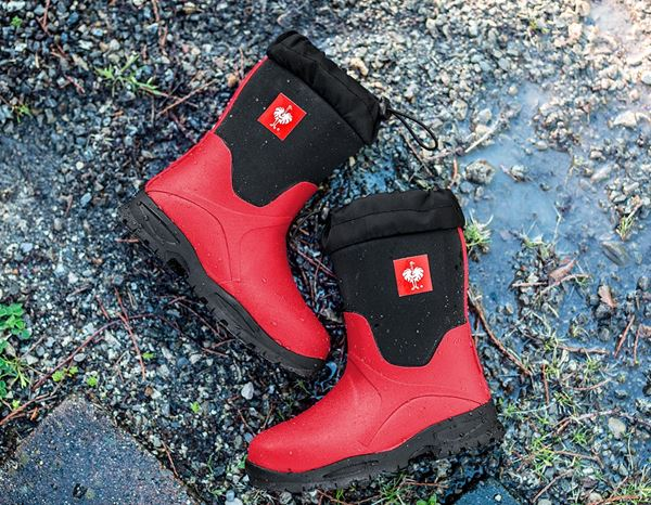 Kids Shoes: e.s. Allround boots Fides high, children's + fiery red/black 3