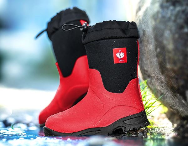 Kids Shoes: e.s. Allround boots Fides high, children's + fiery red/black 1