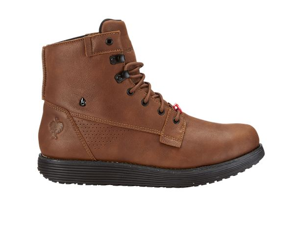 O2: e.s. O2 Work shoes Segamo mid + cognac