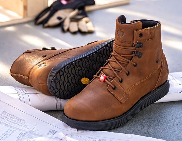 O2: e.s. O2 Work shoes Segamo mid + cognac 1