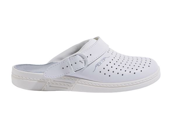 OB: ABEBA OB Ladies' and men's clogs Tahiti + white