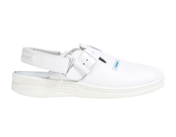 OB: ABEBA OB Ladies' and men's clogs Caracas + white
