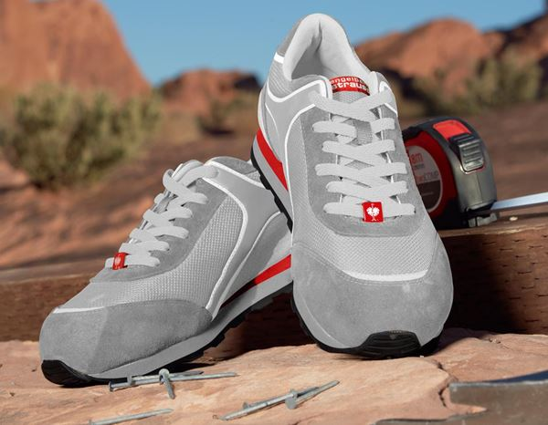 S1: e.s. S1 Safety shoes Sirius + lightgrey/white/red 1