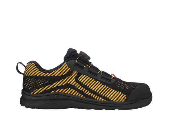 Safety Shoes S1: e.s. S1 Safety shoes Tegmen II low + black/high-vis yellow/high-vis orange