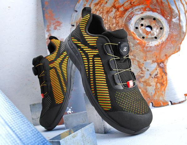 Safety Shoes S1: e.s. S1 Safety shoes Tegmen II low + black/high-vis yellow/high-vis orange 1