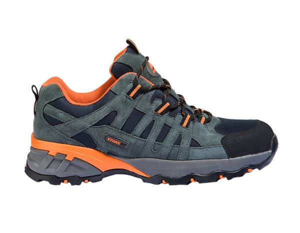 Safety Shoes S1: STONEKIT S1 Safety shoes Palermo + navy/anthracite/orange