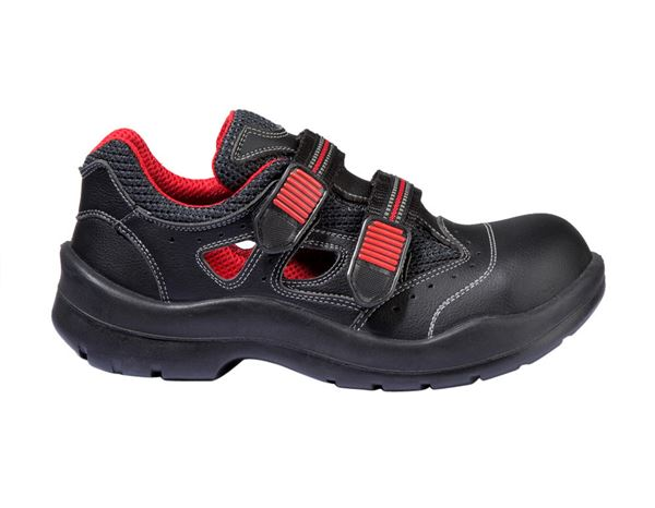Safety Shoes S1P: S1P Safety sandal Comfort12 + black/red
