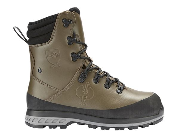 S2: e.s. S2 Forestry safety boots Triton + mudgreen