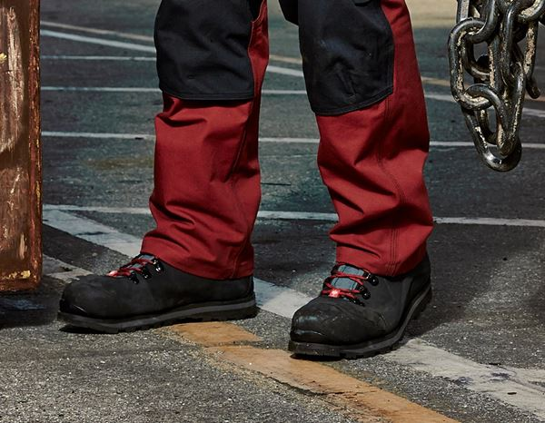 Safety Shoes S3: e.s. S3 Safety boots Alrakis mid + black/titanium/ruby 3