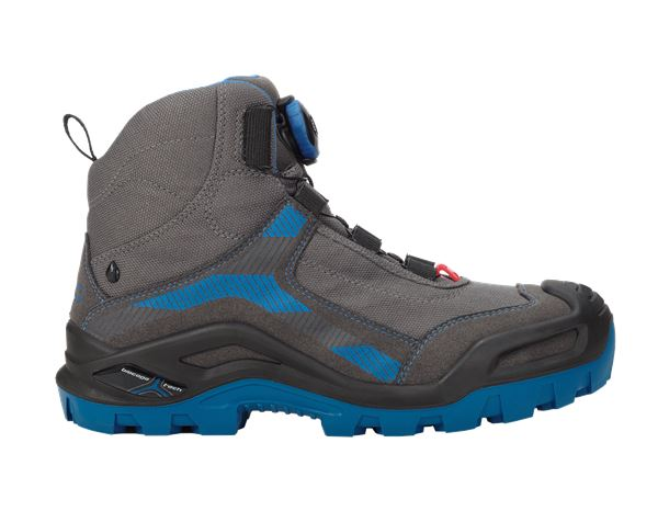 S3: e.s. S3 Safety boots Kastra mid + titanium/gentian blue